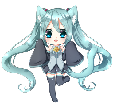 Miku Kitty by moekitten