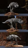 T.rex stalking pose by joel3d