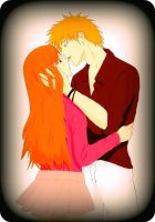 IchiHime: Strawberry Love colored by Amira-Amilia