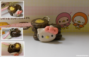 Hello Kitty Macaroon Charm by misoandramen