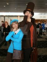 Prof. Layton and Luke Cosplay by Noctuart