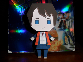 Marty McFly Papercraft Built by Tyulyen