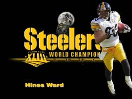 Hines Ward Steelers by stephensportsart