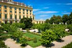 Wien - Schonbrunn Palace gardens with trees by Dragon-Claw666