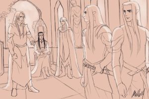 Rivendell Council WIP by MellorianJ