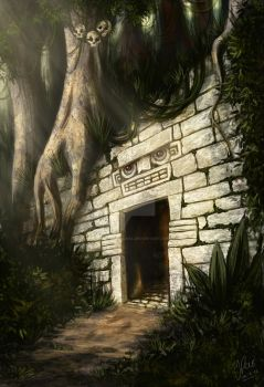 Jungle Temple by JenTheThirdGal