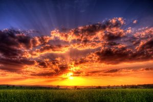 wonderful sunset HDR by stg123