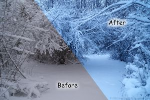 Bright Blue Tint Photoshop Action by SnapShot120