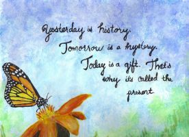 Butterfly with quote by lettym