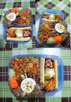 fried rice banana split bento by plainordinary1