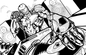 DJ Ironman (revisited) Inks by Laserbot