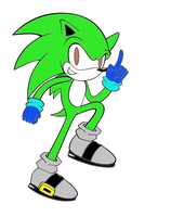 Sonic line art done for my O.C by blueblood1996