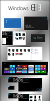 Windows 8 D4rK - Icons and Wallpapers v1.0 by D4rKlar