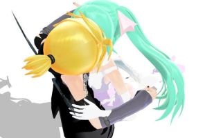 MMD KISS by hatofiria