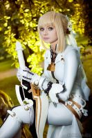 watching you - Saber bride cosplay by SelenaAdorian