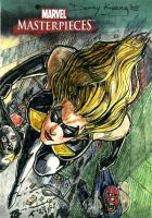 Miss Marvel MM3 Sketch Card by DKuang
