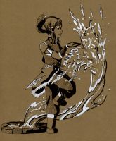 Traditional Korra by midnight-risu