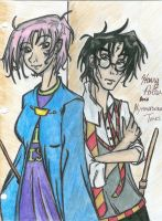Harry and Tonks by Starpiper