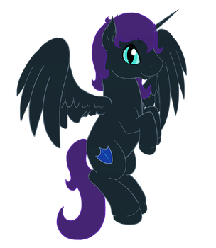 Nyx Sparkle (comm) by Hearts-and-Hooves