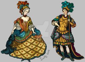 Set of Baroque costumes(2) by SceithAilm
