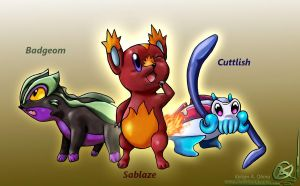 Starter Pokemon concept by TheCreationist