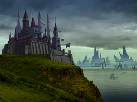 Castle Matte-Painting Concept by toiletbear