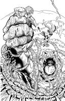 INKS: ...and a Rancor in a Sarlacc Pit by fredmast
