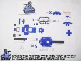 Papercraft Advance Wars Blue Moon Tank WIP3 by ninjatoespapercraft