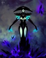 Lissandra the Black frost witch by dark00widow
