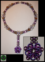 Purple Necklace by GreenArrowDB