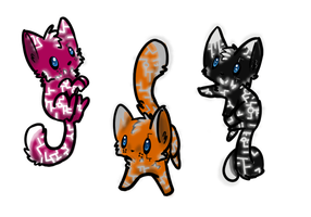 cheap, glowing kitty adopts 5(sold) by TheCorruptedMind