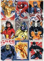 Marvel Universe Sketch Cards by redgvicente