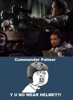 Sarah Palmer Can't Be Bothered With Helmets by JCLFMark