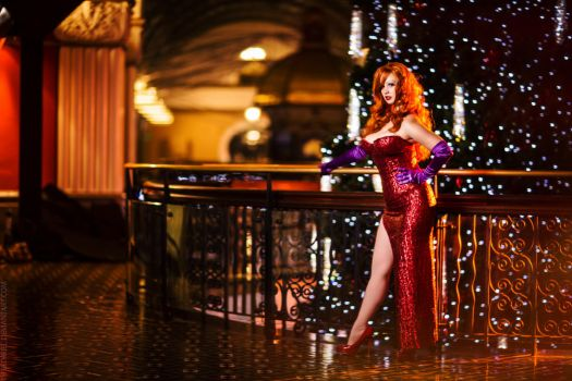 Merry Christmas from Jessica Rabbit by fiathriel