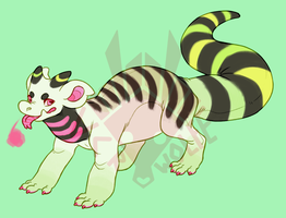 gecko beetlejuice fumi [CLOSED] by VCR-WOLFE