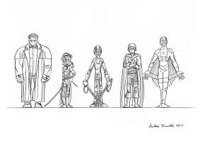 Group shot 1 - ink by Ambroise-H