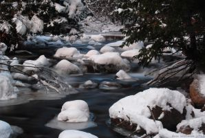 Winter River by blutesauger