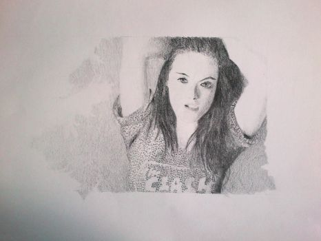 Kristen Steward Pencil Portrait by MirrorMonkey