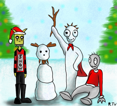 Snowmen by RavinTheVampire