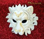 Regal Lion...Ivory and Gold by merimask