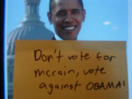 dont vote 4 obama by therednicktranter