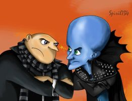 Gru Vs Megamind by Spirit734