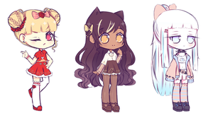 [OPEN 1/3] Random Adoptables [Set price] by Seraphy-chan
