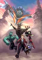 Guardians of the Galaxy by Novuh