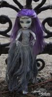 Monster High ghost dress for Spectra Vondergeist by bodaszilvia