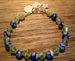 crystal and glass bracelet by merpagigglesnort