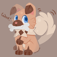 New Dog Pokemon Iwanko! by SarahRichford