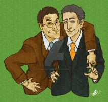 Colbert and Stewart by nina-was-here