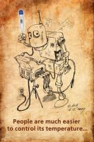 The robot and the thermometer by bear-bm