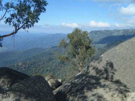 View from Mt. Buffalo by Bookworm48